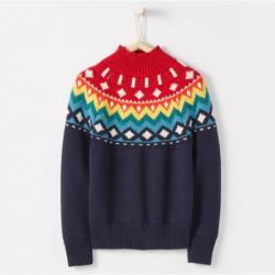 Hanna Andersson All Is Bright Turtleneck Sweater In Cotton & Merino