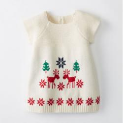 Hanna Andersson SHOP THE OUTFIT Dear Deer Sweater Dress In Cotton & Merino