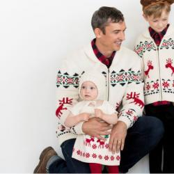 Hanna Andersson Adult Dear Deer Zippered Sweater In Cotton & Merino