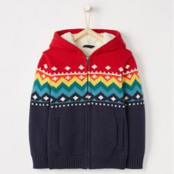 Hanna Andersson All Is Bright Sherpa Lined Sweater In Cotton & Merino