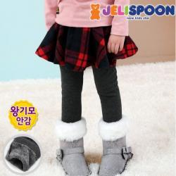 [젤리스푼] New체크홀릭밍크기모스커트레깅스_MO