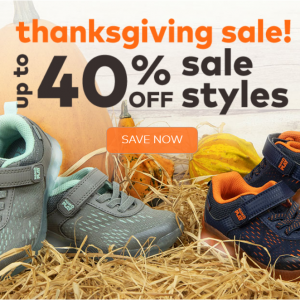 Thanksgiving Day sale !Up to 40% off  baby & kids sale @ Stride Rite