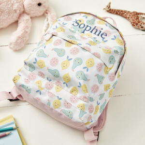 My 1st Years Personalized Tutti Frutti Print Backpack