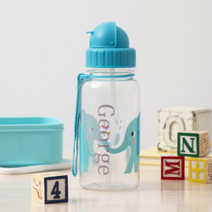 My 1st Years Personalized Elephant Print Water Bottle