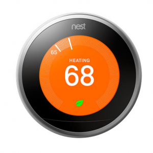 NEST LEARNING THERMOSTAT - 3RD GEN - (STAINLESS STEEL)