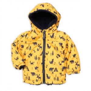 London Fog Baby Boy's Woodland Print Reversible Jacket