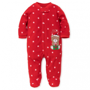 Little Me Baby's Embroidered Footie