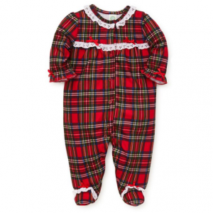 Little Me Baby Girl's Plaid Footie