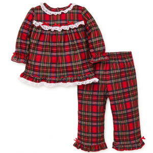 Little Me Baby Girl's Two-Piece Plaid Pajama Set