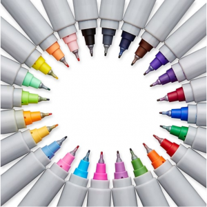 $9 Sanford Sharpie Permanent Markers, Ultra-Fine Tip, Assorted, 24/Pak @Staples