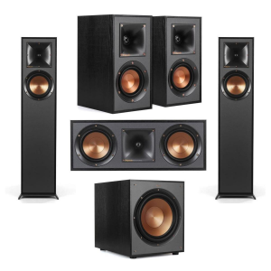 $746 OFF Klipsch 2 Pack R-610F Floorstanding Home Speaker With 2 More Speakers /Subwoofer