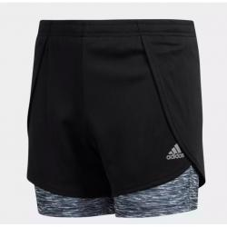 GIRLS TRAINING 2-IN-1 SPACE DYE SHORTS