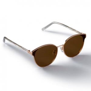 PETAL_Rosegold/Brown Sunglass