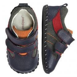 Pediped ORIGINALS GRAYSON NAVY/RED/ORANGE