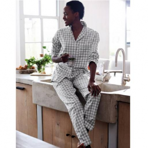 Brushed Cotton Gingham Pajama Set