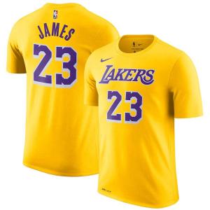 Men s Los Angeles Lakers LeBron James Nike Gold 2018 19 Name   Number  Performance T c5d7f806e