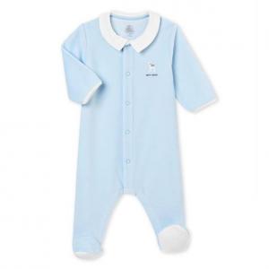 BABY BOY'S PLAIN COTTON VELOUR 잠옷