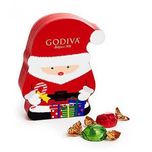 Chocolate Truffle Santa Box, Individually Wrapped, 8 pc.