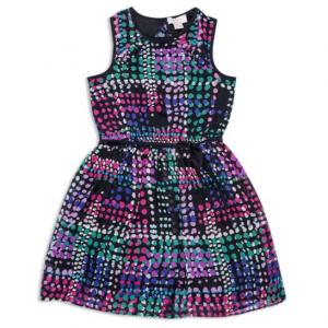 kate spade new york Girls' Ruffle Back Dot Dress - Big Kid