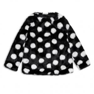 kate spade new york Girls' Polka Dot Faux Fur Coat - Baby