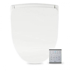Bio Bidet Slim TWO Bidet Smart Toilet Seat in Elongated White with Stainless Steel Self-Cleaning