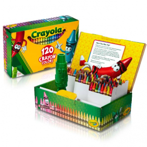 Crayola Classic Crayons 120 count with Tip Crayon Sharpener