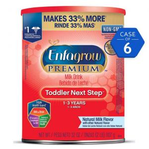 Enfagrow PREMIUM Toddler Next Step, Natural Milk Flavor - Powder Can, 32 oz (Pack of 6)