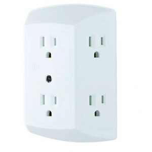$4.90(was $9.99) GE 6 Outlet Wall Plug Adapter Power Strip @ Amazon.com