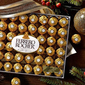 Ferrero Rocher Fine Hazelnut Chocolates, Chocolate Gift Box, 48 Count Flat@ Amazon.com