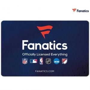 Newegg官網$50 Fanatics的禮卡(Email Delivery) 僅售 $37