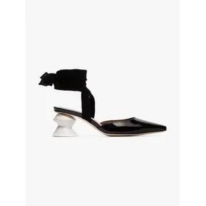 Rejina Pyo Black Barbara 55 Patent Leather Mules