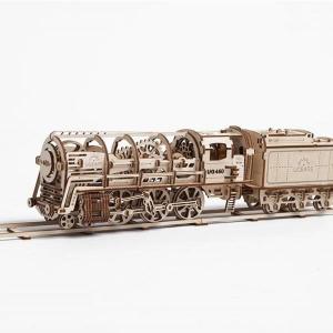 Ugears Steam Locomotive With Tender Model