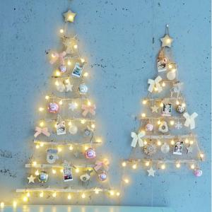 네츄럴 우드 30P 벽트리 풀세트 크리스마스 트리