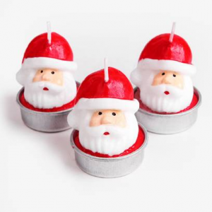 크리스마스 레드 산타 캔들 (1set)