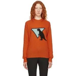 Prada Orange Dinosaur Sweater