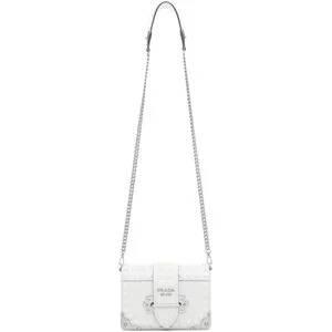 Prada White Mini Cahier Bag