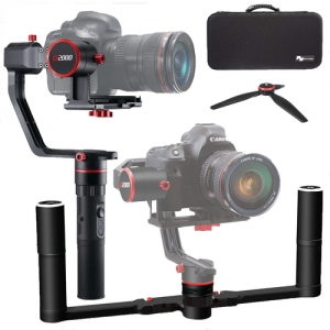Feiyutech a2000 3 Axis 360 Degree Handheld Gimbal for Mirrorless/DSLR Camera & Carry Case @BuyDig
