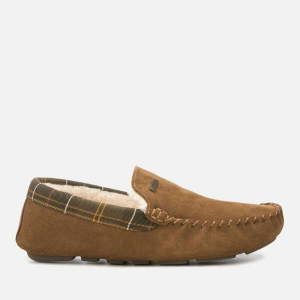 Barbour Men's Monty Suede/Fabric Moccasin Slippers
