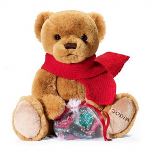 Godiva Chocolatier, Annual Holiday Plush Bear with Bag Of Chocolates