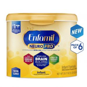 Enfamil NeuroPro Infant Formula - Brain Building Nutrition Inspired by Breast Milk - Reusable Powd
