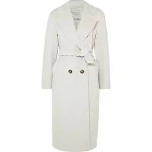 MAX MARA Belted wool and cashmere-blend coat