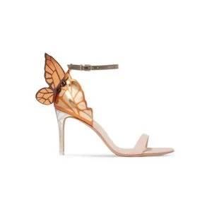 SOPHIA WEBSTER Chiara metallic leather sandals