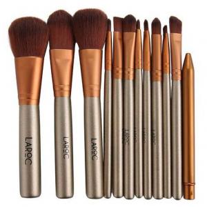 LaRoc 12 Piece Travel Makeup Brush Set