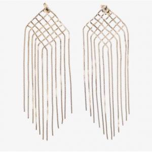 ROSANTICA Fringed brass earrings
