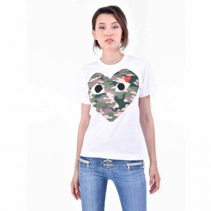 COMME DES GARCONS PLAY Printed cotton T-shirt