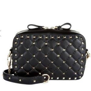 Valentino Garavani Leather Rockstud Spike Camera Bag