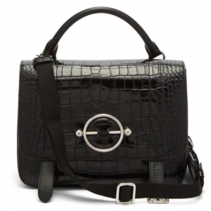 JW ANDERSON  Disc patent-leather satchel bag