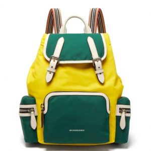 BURBERRY  Medium nylon and leather backpack
