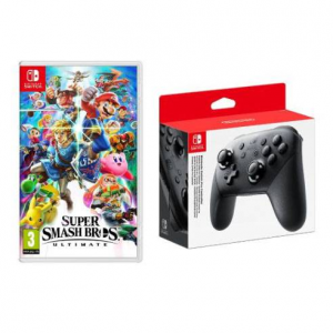 Super Smash Bros. Ultimate and Nintendo Pro Controller Bundle @ Massgenie