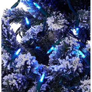 Aurio Outdoor/Indoor Christmas Lights 300-Count Total HM5 LED, 50-Bulbs per 16.3FT Set, 300, Blue